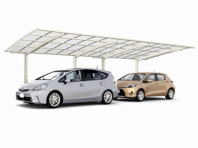 【7】縦に2台駐車するカーポートは、縦連棟(たてれんとう)