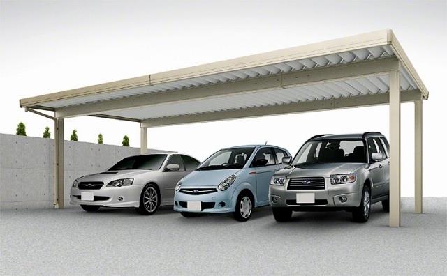 3台駐車で、積雪対応して安心できるカーポート