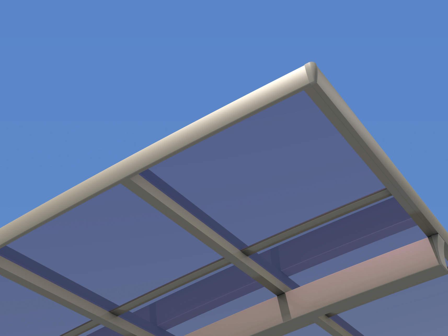 明るさも開放感も確保できる「ポリカーボネート板」