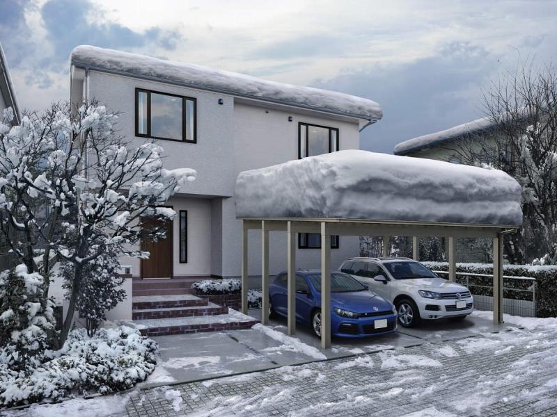 ウチのカーポートには積雪はどれぐらい必要?
