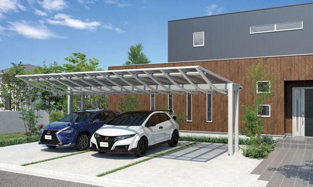 カーポートは雨よけとしてはどの屋根材も同じ機能