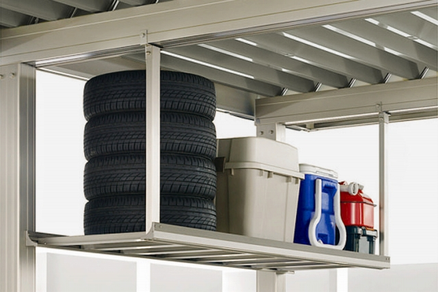意外な収納スペースの上吊り棚
